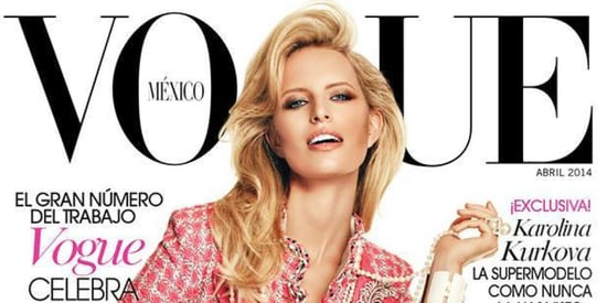 Karolina Kurkova Covers Vogue Mexico, Looks A Little Uncomfortable