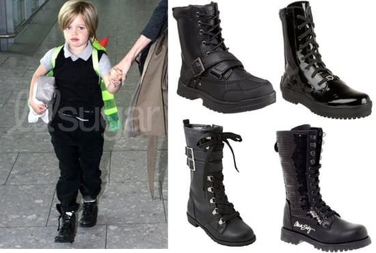 Picture of Shiloh Jolie-Pitt in Combat Boots