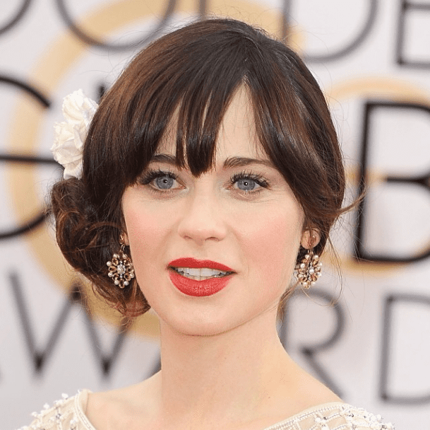 Typically it's the New Girl star's nail art that has Instagram clicking, but this week it was Zooey Deschanel's retro Golden Globes beauty look they loved.