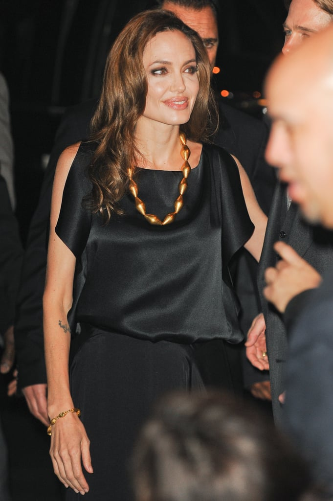 Angelina Jolie wore black for her premiere and afterparty for In the Land of Blood and Honey.