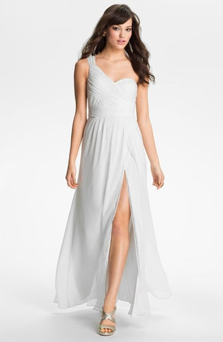 Hailey by Adrianna Papell One Shoulder Lace & Chiffon Gown (Online Only)
