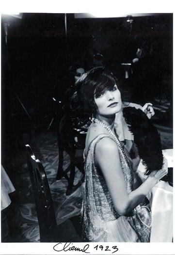 Edita Vilkeviciute as Coco Chanel in 1923.