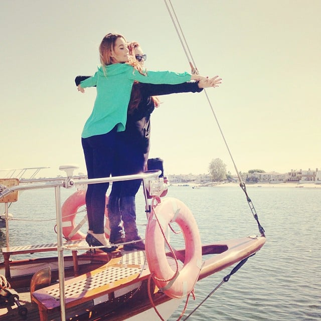 She re-created Titanic with a pal. Source: Instagram user laurenconrad