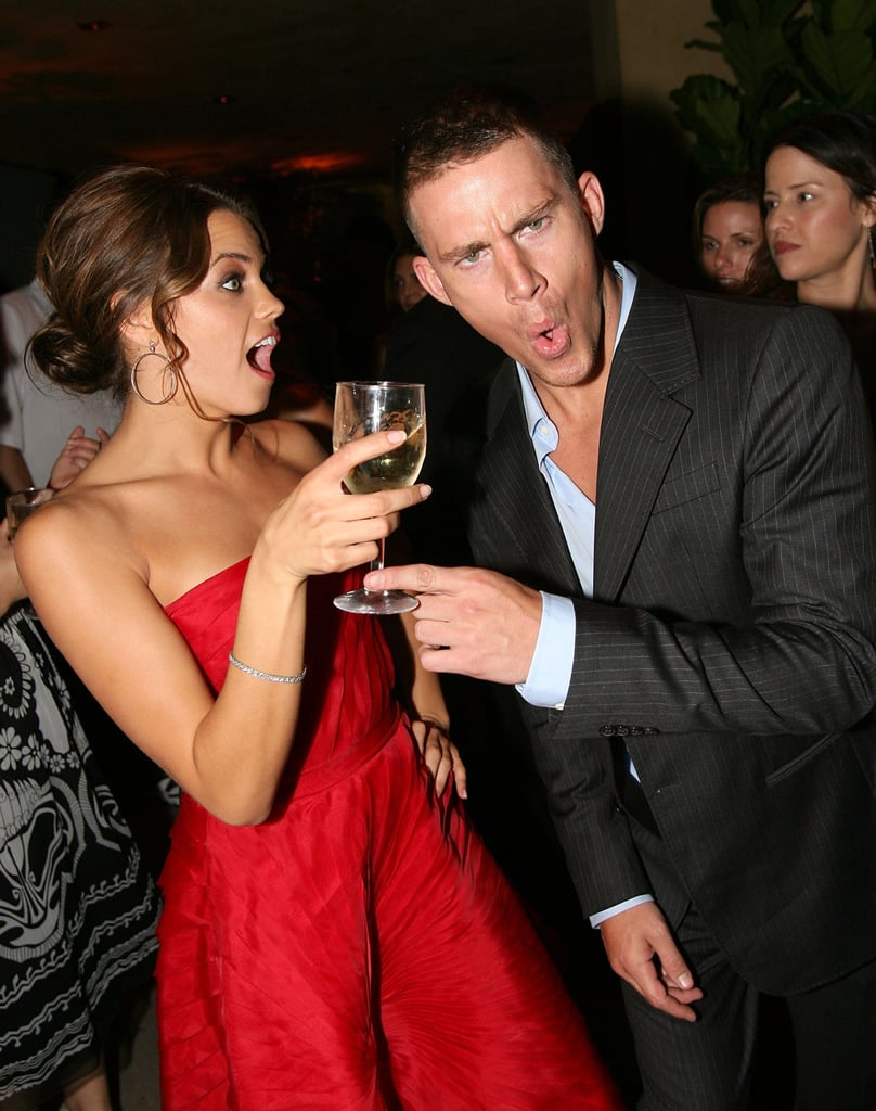 Jenna and Channing got goofy at the August 2006 premiere of Step Up in LA.