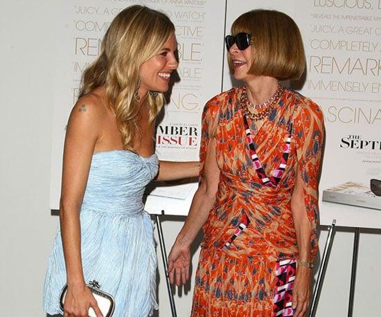 Photo Slide of Sienna Miller and Anna Wintour on the Red Carpet in NYC