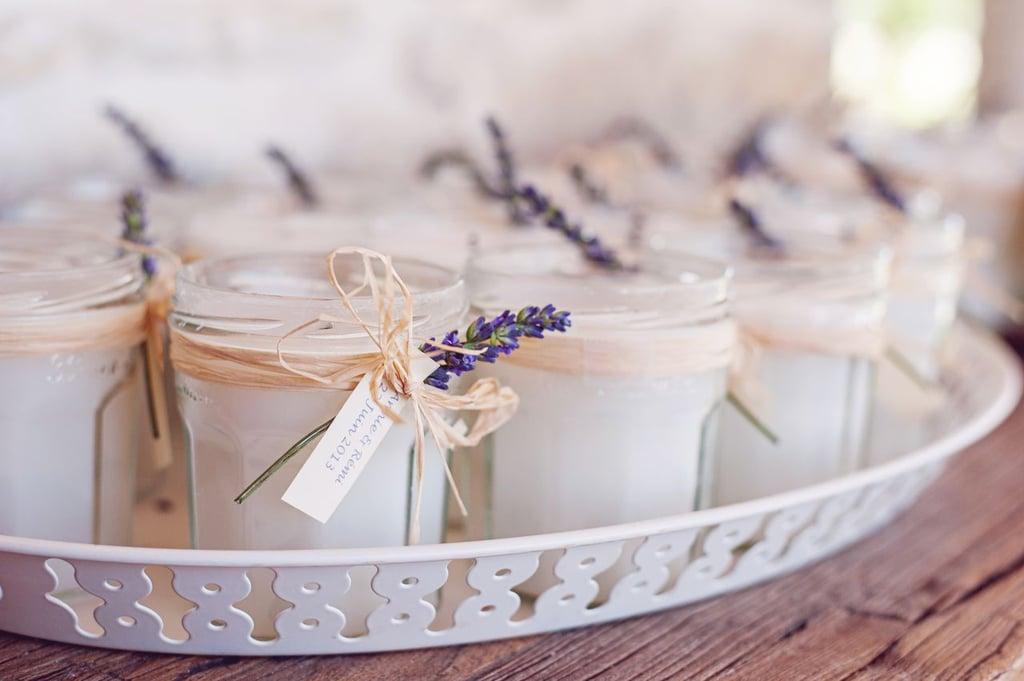 Lavender Candle Favors