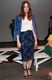 Mandy Moore looked like a vision in cool shades of blue at Billy Reid at New York Fashion Week — we love the juxtaposition of cobalt-blue leather against a darker floral print.