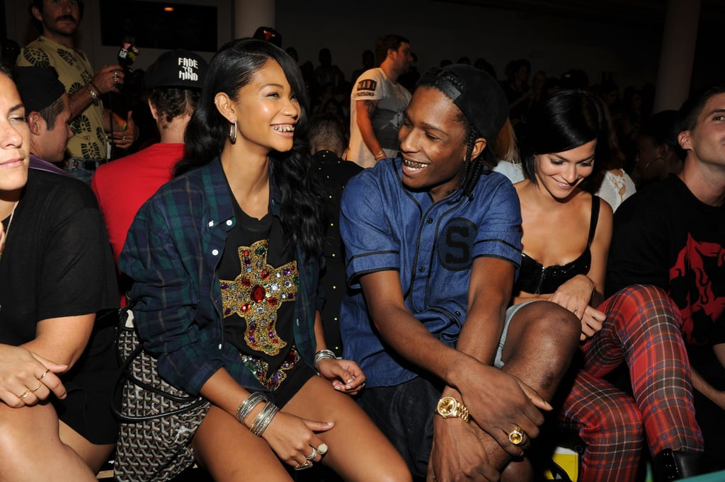 Chanel Iman, A$AP Rocky and Leigh Lezark were front row at Jeremy Scott.