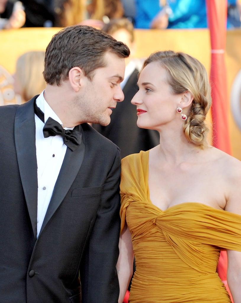 Inglourious Basterds star Diane Kruger was escorted to the 2010 awards by her boyfriend, Joshua Jackson.