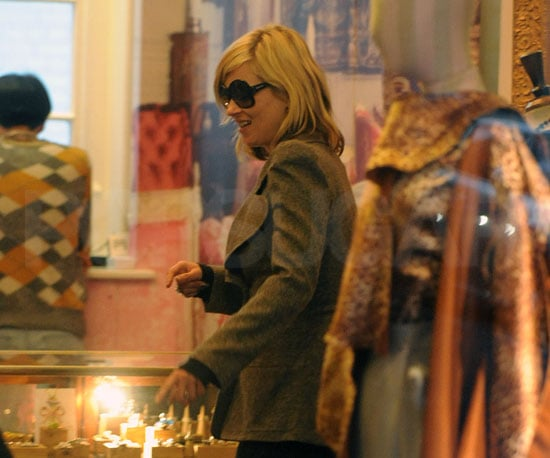 Photo of Kate Moss Shopping at Vivienne Westwood's Shop in London