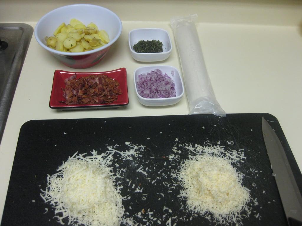 Potato, Bacon, and Asiago Pizza