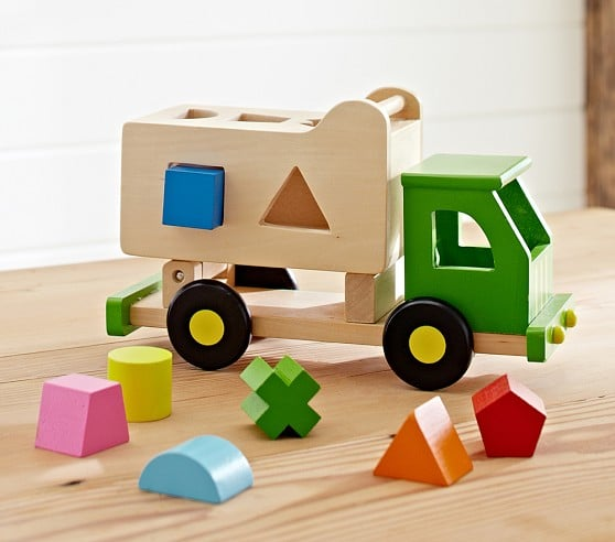 For 1-Year-Olds: Pottery Barn Kids Sort N Tip Truck