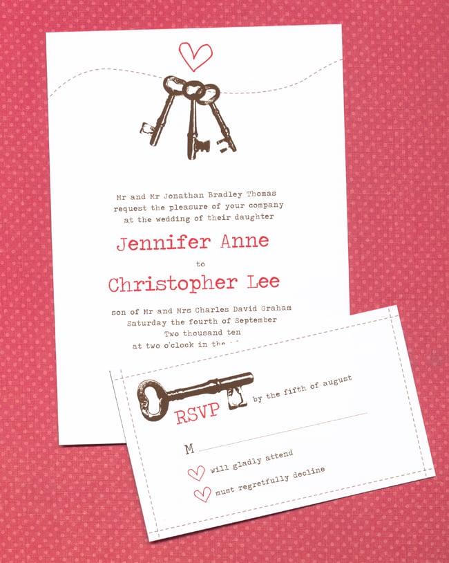 Keys to Your Heart Wedding Invitation