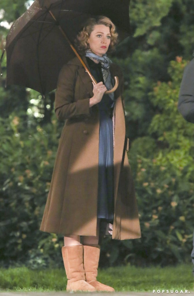 Blake filmed a rain scene for The Age of Adaline in Vancouver on Friday.