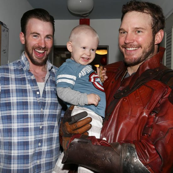 Chris Pratt and Chris Evans at a Nonprofit