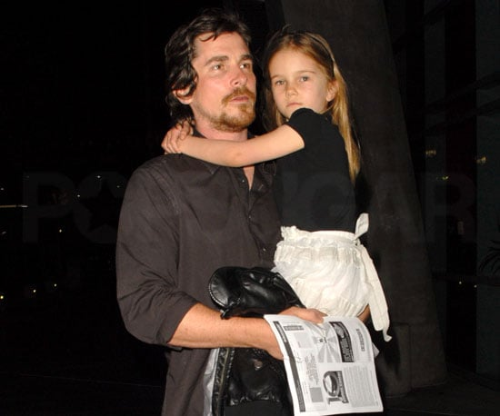 Slide Photo of Christian Bale and Emmeline at Black Eyed Peas Concert