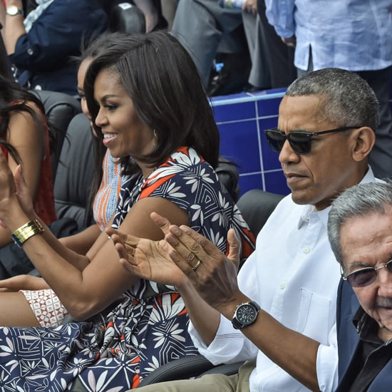 Michelle Obama's Tory Burch Dress at Baseball Game in Cuba