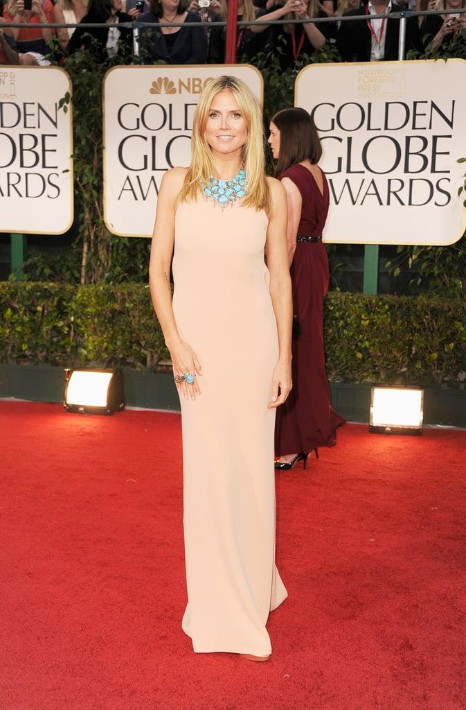 Heidi Klum on the red carpet.