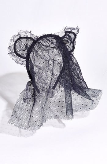 """The Maison Michel """"Heidi"""" Cat Ears Double Veil ($519) adds some sexiness to the typical cat ears."""