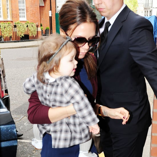 Victoria Beckham and Harper London Shopping Pictures
