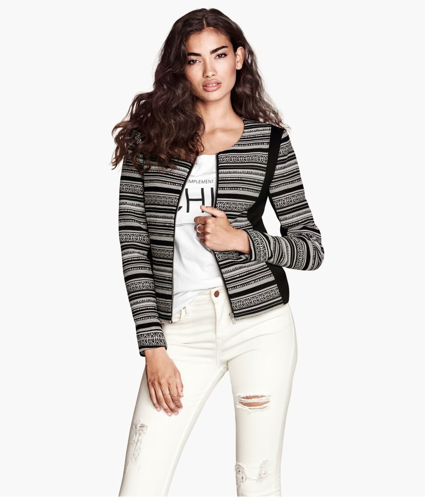 For instant polish, just add this H&M jacquard weave jacket ($50).