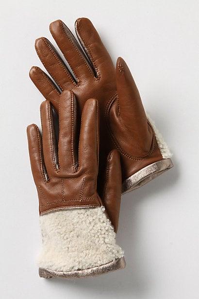 Cuffed Shearling Gloves