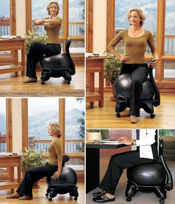 The BalanceBall Is Good For Your Back And Your Butt