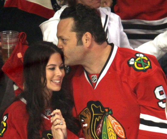 Slide Pictures of Vince Vaughn and Kyla Weber at Stanley Cup Finals