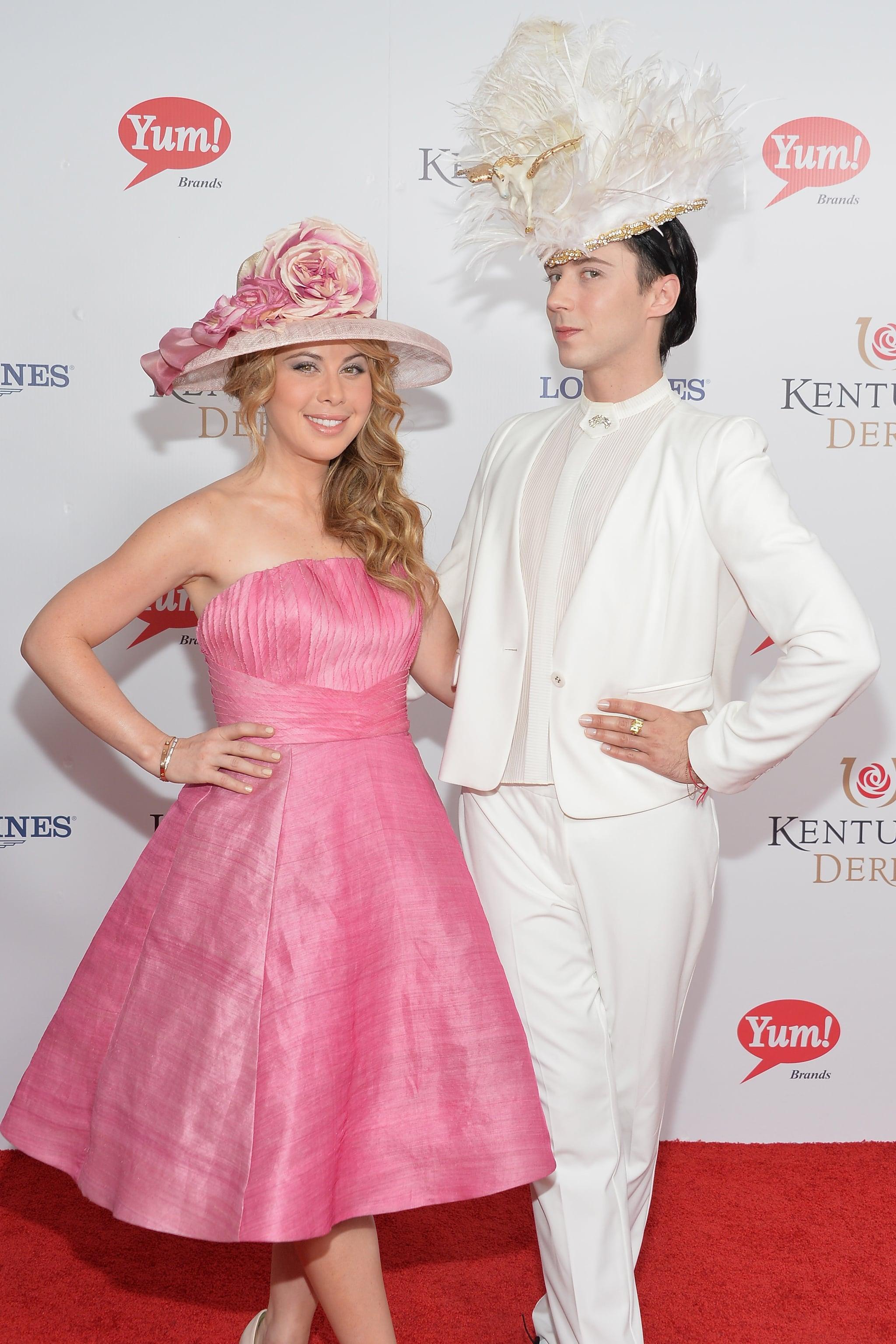 Tara Lipinski and Johnny Weir both had fun with their extravagant hats.