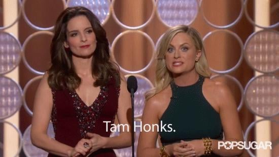 Amy Poehler Flubs a Big Name in the Best Way at the Golden Globes