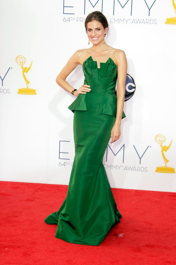 The green Oscar de la Renta gown Allison Williams wore screams chic bridesmaid and then some. Sure, you probably won't be able to wear it again after the black-tie affair, but you'll look damn good that night.