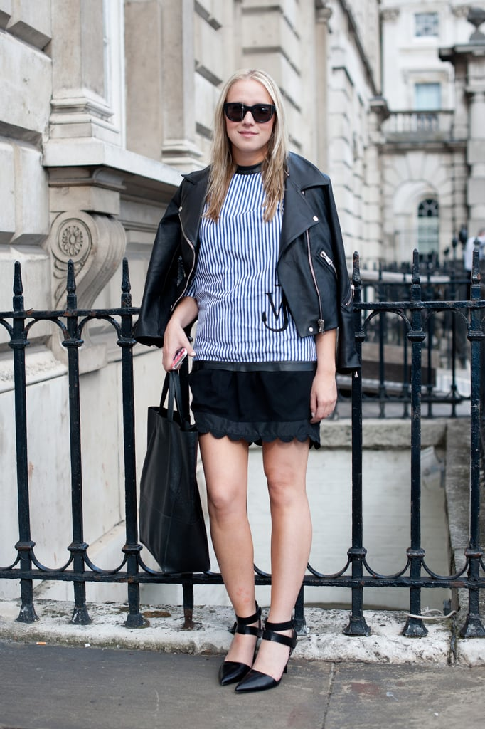 Spotted: Alexander Wang's black pumps punching up an already-cool uniform.