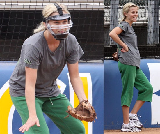 Photo of Reese Witherspoon Playing Softball in LA
