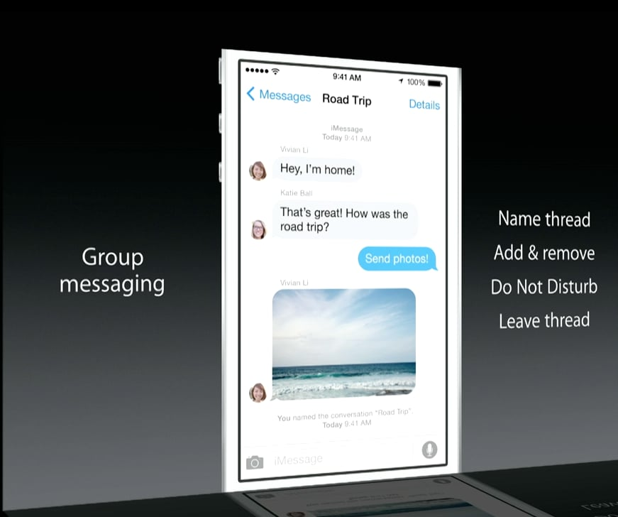 iOS 8 Group Messaging Features