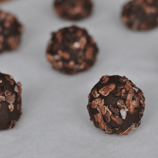 Vegan Mint Chocolate Protein Bites