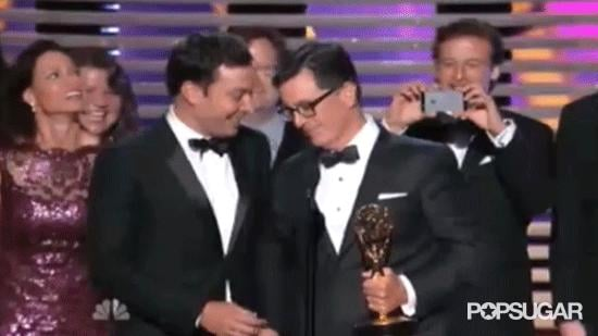 "Jimmy Fallon Figured He Won Since They Mispronounced ""Colbert"""