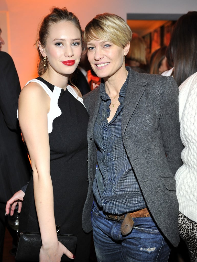 On Thursday, Robin Wright looked happy to show off her daughter, Dylan Penn, at W magazine's party.