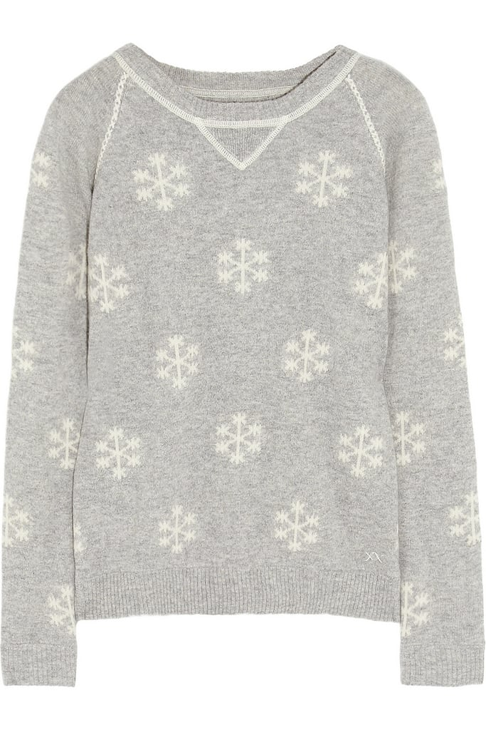 Banjo & Matilda's Snowflake Intarsia Sweater ($365) is perfect to wear to a sweater party and also works for holiday dinner with the family.