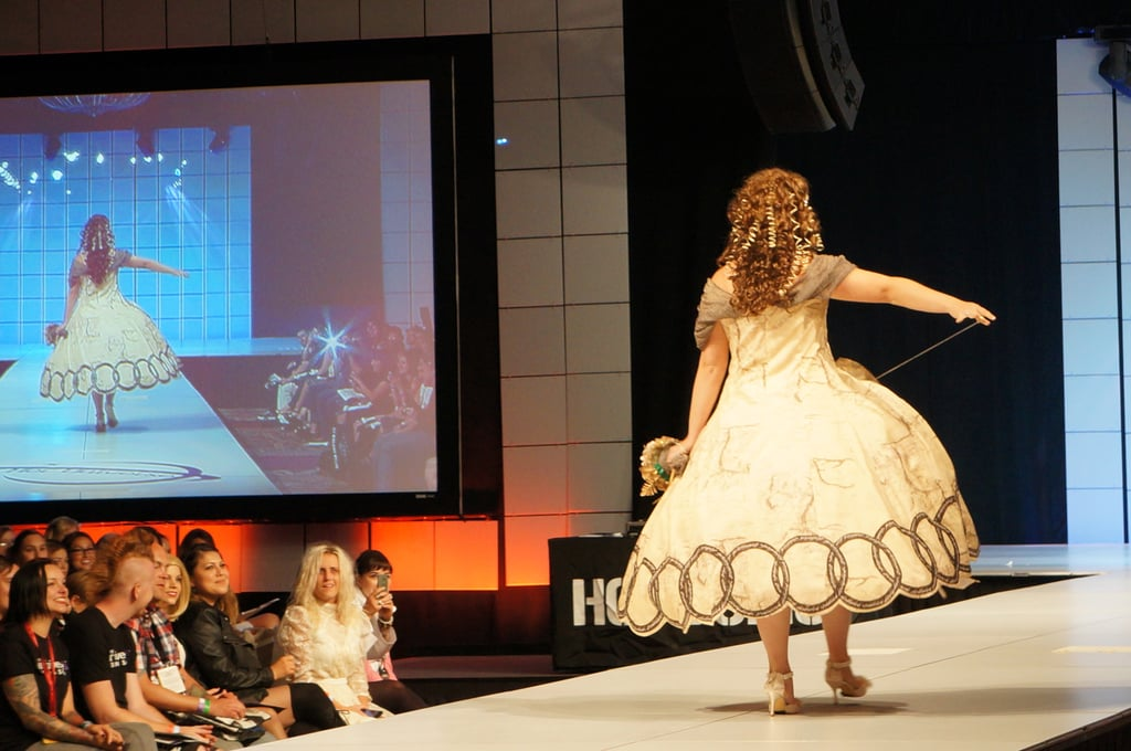 It had a little pull to reveal the Hobbit-esque trouser underneath. Photo: Nicole Nguyen