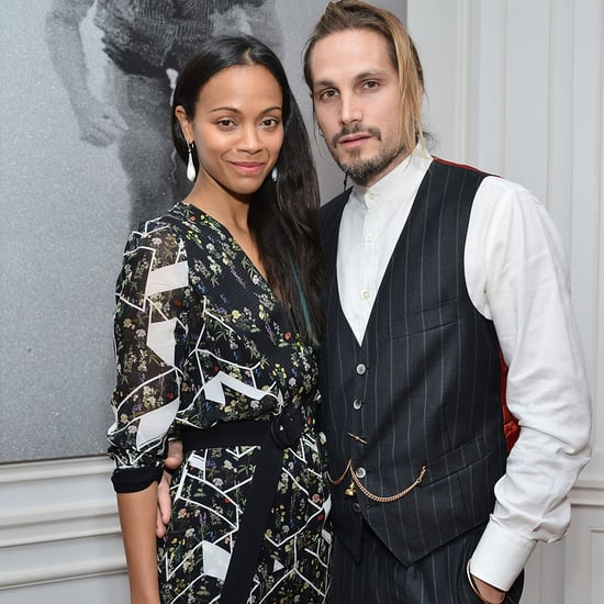 Zoe Saldana and Marco Perego at an Art Event in Los Angeles
