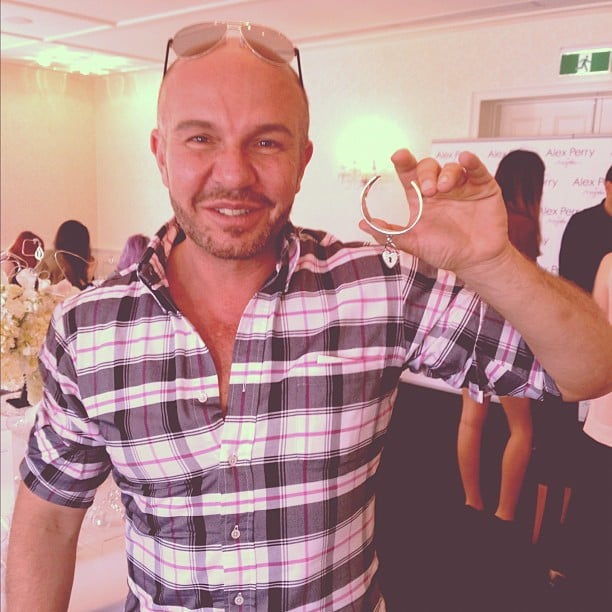 Alex Perry shows off his new jewelery range in collaboration with Magnolia. . .