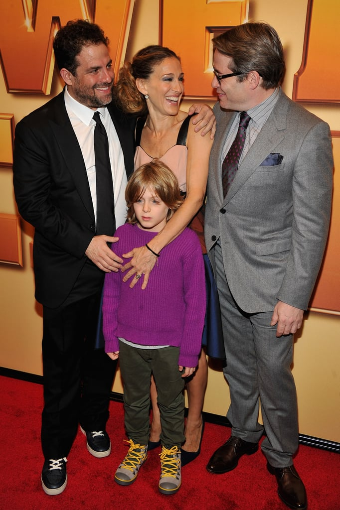 Matthew Broderick was joined by his wife, Sarah Jessica, and son, James Wilkie, at the premiere.