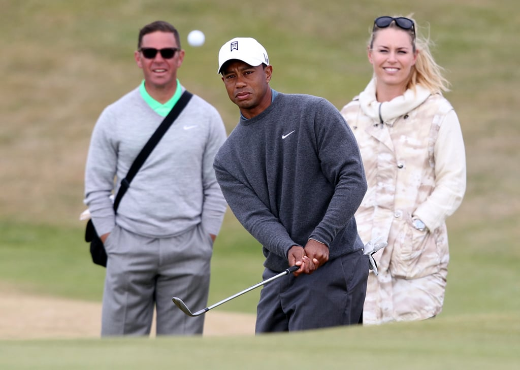 Tiger Woods was also joined by his coach, Sean Foley, during a practice round for the 142nd British Open Championship.