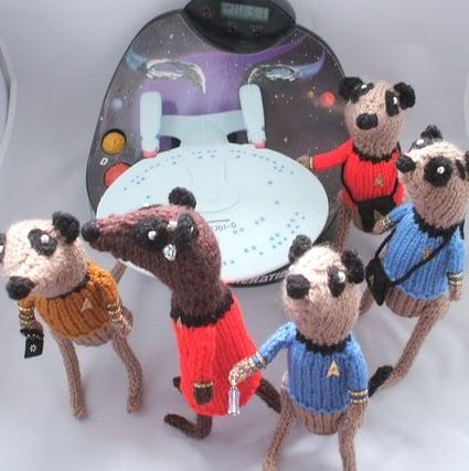 Cute Alert: Knitted Trekkie Meerkats