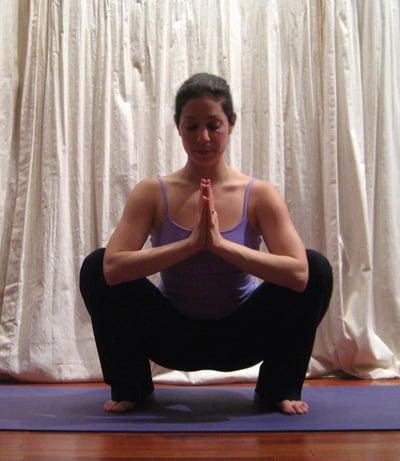 Wide Squat Yoga Pose