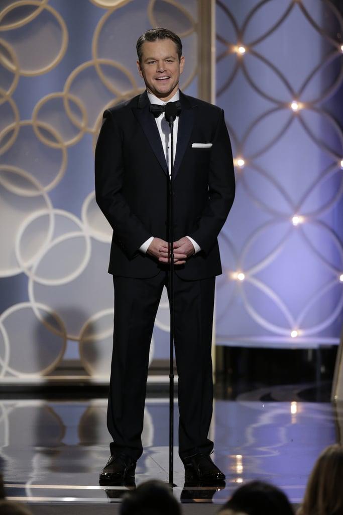 Matt Damon Continues the Garbage Man Joke