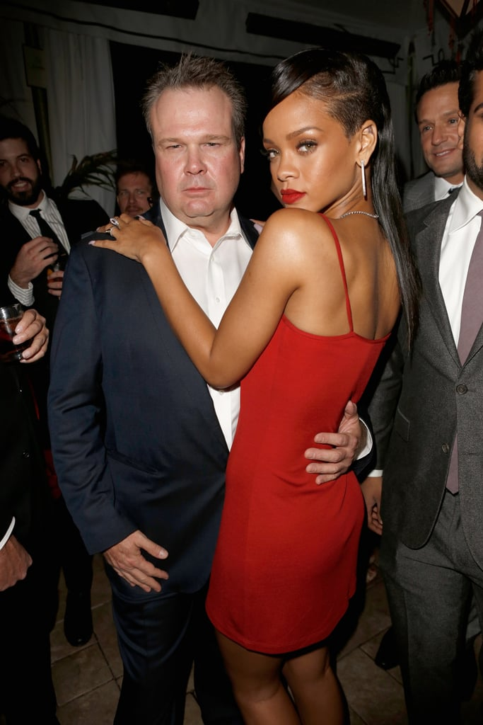 Rihanna and Eric Stonestreet struck a sexy pose.