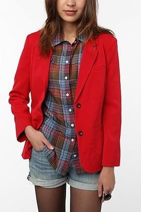 Add a bright dose of color to any look with this structured red blazer.  Urban Outfitters Red Blazer ($79)