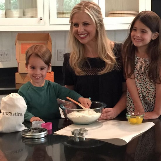 Sarah Michelle Gellar in the Kitchen With Her Kids