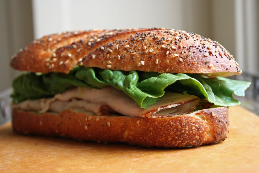 One-Handed Turkey Sandwich